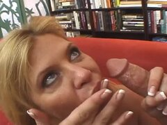 Mature blond lady Ginger Lynn gets fucked by Dino Bravo