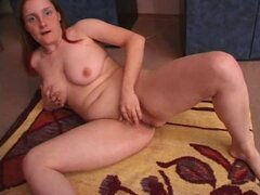 Mature fatty fingers her juicy pussy
