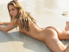 Verunka naked in the sand