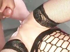 Horny german slut in stockings gets part4