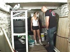 Fucking a teen cunt in the basement