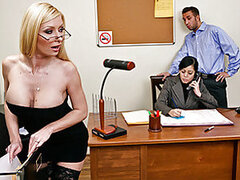 There's a new foreigner in town, and she just landed herself the front desk job. Everyone keeps making fun of her, saying she cant speak English well but when Keiran visits his wife he meets Helena and sees she is much more than a leggy blonde that can't