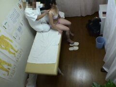 Girls in lingerie get massaged on hidden camera voyeur video