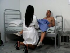 A fatty ebony nurse do sex with her patient