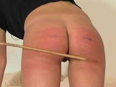 See her ass turn colors during caning