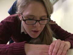 Victoria got her sweet pussy pounded as she was bent over the examining table.