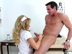 Samantha Saint the sexiest nurse gets fucked by her patient