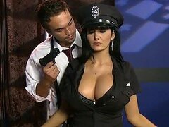 Busty Brunette Policewoman Ava Addams Gets Fucked With Her Uniform On