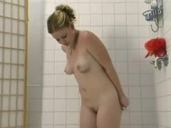 Furry Redhead soaps her twat to shave it