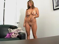 Hot Latina Gets Her First Facial In A Hot Interview