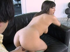 Picking up hot teen Samora Morgan in night club and fucking her in his house
