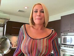 Beautiful blonde milf Melanie Monroe...