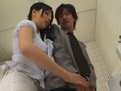 Naughty Bathroom Fucking With Busty Babe Saori Hara