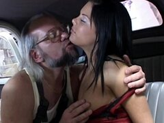 Young brunette fucked by old hunk