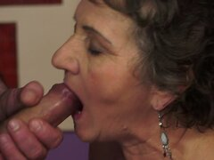 Horny Wild Dude Fucking a Fat Old Lady's Hairy Pussy