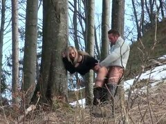Hungarian nasty bitch fucked in woods