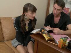 College doll is seduced and then fucked hard