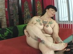 Cherry Liqueur the fat tattooed babe getting banged