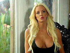 Busty blond Nicolette Shea wants to get naked with you
