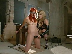 Gorgeous Redhead Forced Tol Orgasm By Blonde Babe