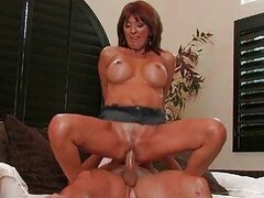 Horny MILF Stuffed And Fucked