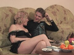 Perverted chubby babe being fucked by a young dude