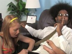 Ami emerson fucks the black doctor with daddy in the room