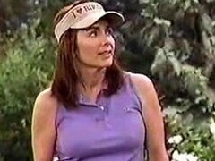 Sexy MILF Actress Patricia Heaton Playing Golf In a Hot Outfit