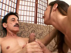 Taylor getting her young tiny pussy drilled by a rough older man