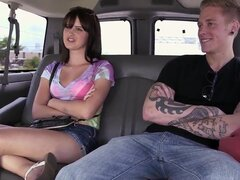 This man seduces pretty hottie Olivia Olove to have sex with him in a bang bus and right before the camera. Watch what this couple is doing in the bus after pickup process.