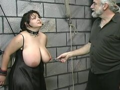 Fatty is tied and tortured in his dungeon