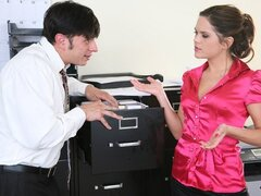 Elizabeth Ann the sexy office worker loves riding in her office and will fuck anyone