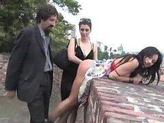 Submissive Hottie Gets Fucked Outdoors