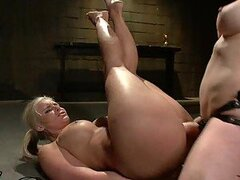 Anal Fisting and Strapon Fucking For Submissive Brunette Lesbian