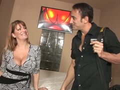 Robbye Bentley the busty MILF in stockings gets fucked rough