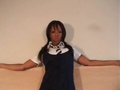 Black schoolgirl gives POV BJ