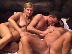One Brunette And One Blonde In A Scorching Hot European Threesome
