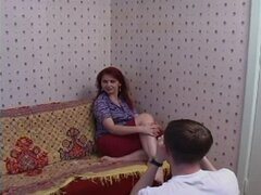 Redhead mature with younger man