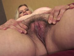 Mature Emilie is riding on the pretty big cock