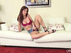 Syren De Mer is a marvelous brunette milf with huge tits and sexy long legs