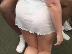 Thick pawg white wife gets fucked by several black cocks