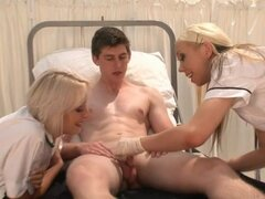 Two_blonde_nurses_check_a_small_shaft