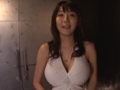 Hot POV video with horny Yuuri Himeno sucking a cock