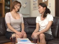 Japanese milf Reiko Kagami gets a chance to suck a hard cock
