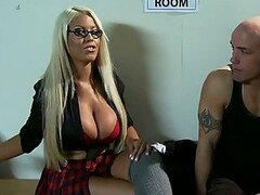 Locker Room Romp with Busty Blonde in Uniform Bridgette B