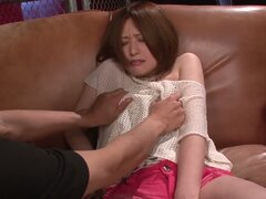 Shy japanese babe Ruri Haruka forced to take off her clothes