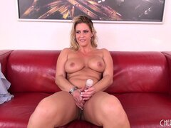 After vibing her vagina, Phyllisha Anne gets joined by a hard dick