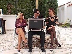 Claudia Rossi and Stacey Silver Get Paid For Having a Threesome Outdoors