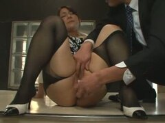 The Slutty Secretary Is Forced To Cum By Her Co-Worker