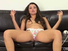 Hot solo action with sexy brunette Allie Haze and her vibrator